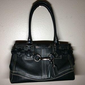 Coach Pebble Leather Hamptons Carryall Satchel Bag